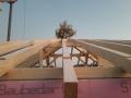 Dachstuhl mit Richtbaum